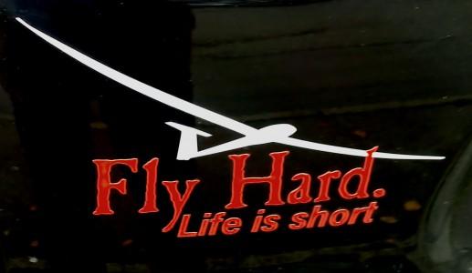 fly_hard_aufkleber